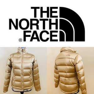 The North Face Gold Puffer Jacket